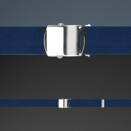 Blue Belt with Silver Buckle